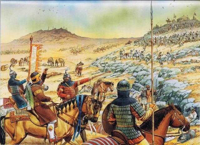 batalla-de-hattin-los-musulmanes-rodeando-los-cuernos.jpeg